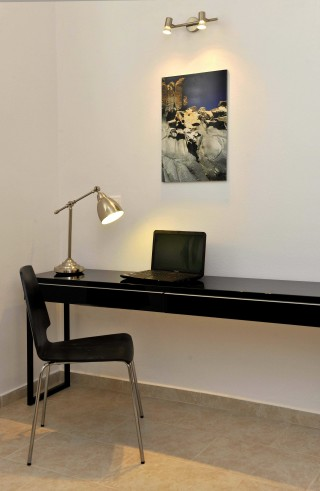 modern desk in Ammos villa