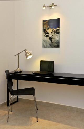 modern desk in Ammos villa