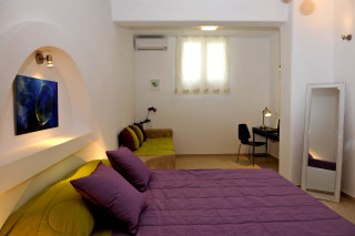 double bed in ammos villa