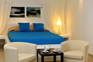 the bedroom of Ammos villa in Paros