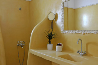 asterias yellow bathroom
