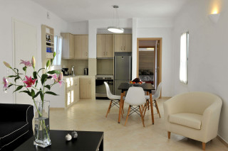 the fully equipped kitchen in Thalassa villa