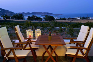 Vrachos villa balcony view